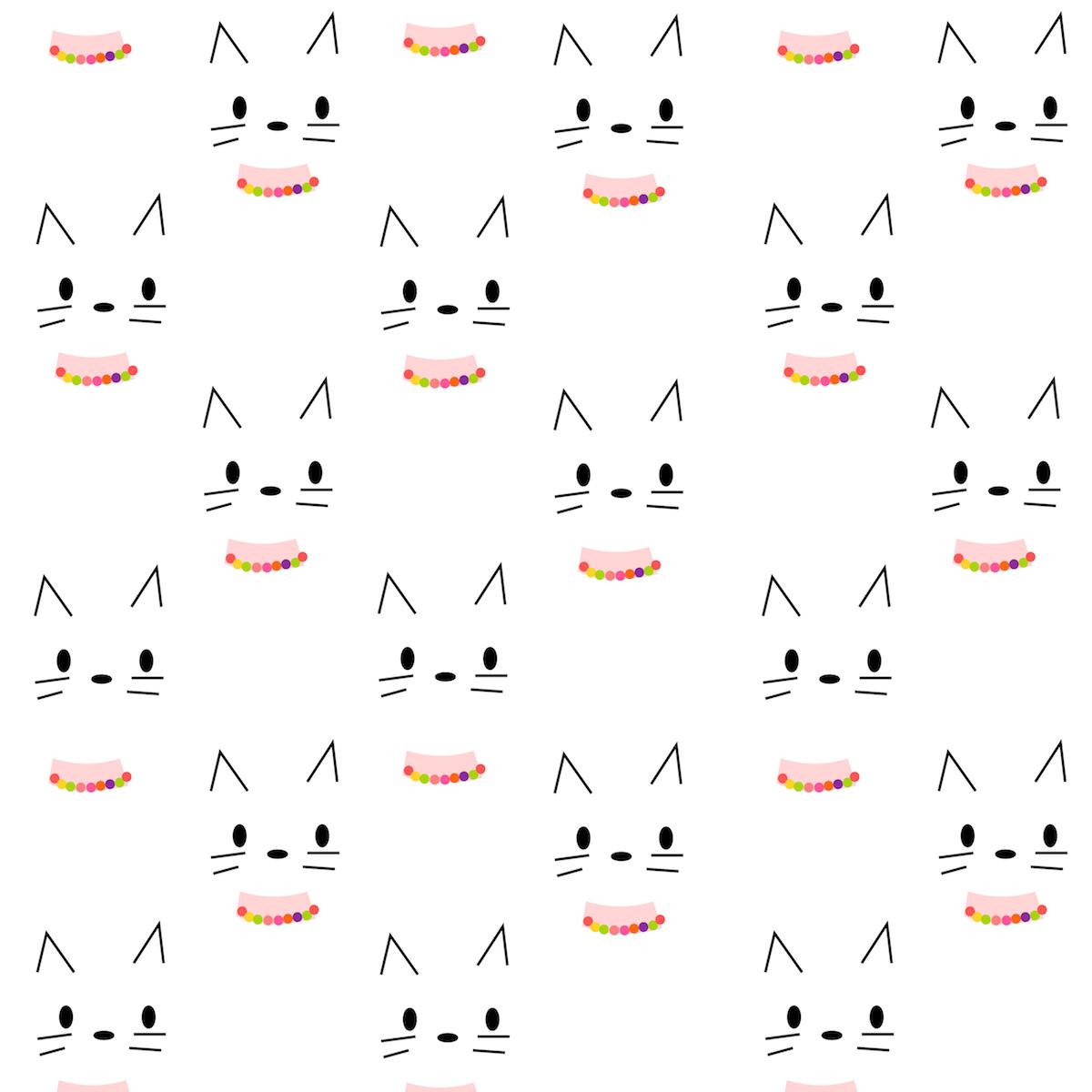 Free Digital Kitty Scrapbooking Paper
