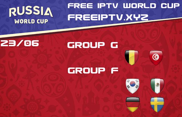World Cup 2018 iptv free m3u list 23/06/2018