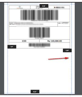 Cara memperkecil cetak invoice Shopee