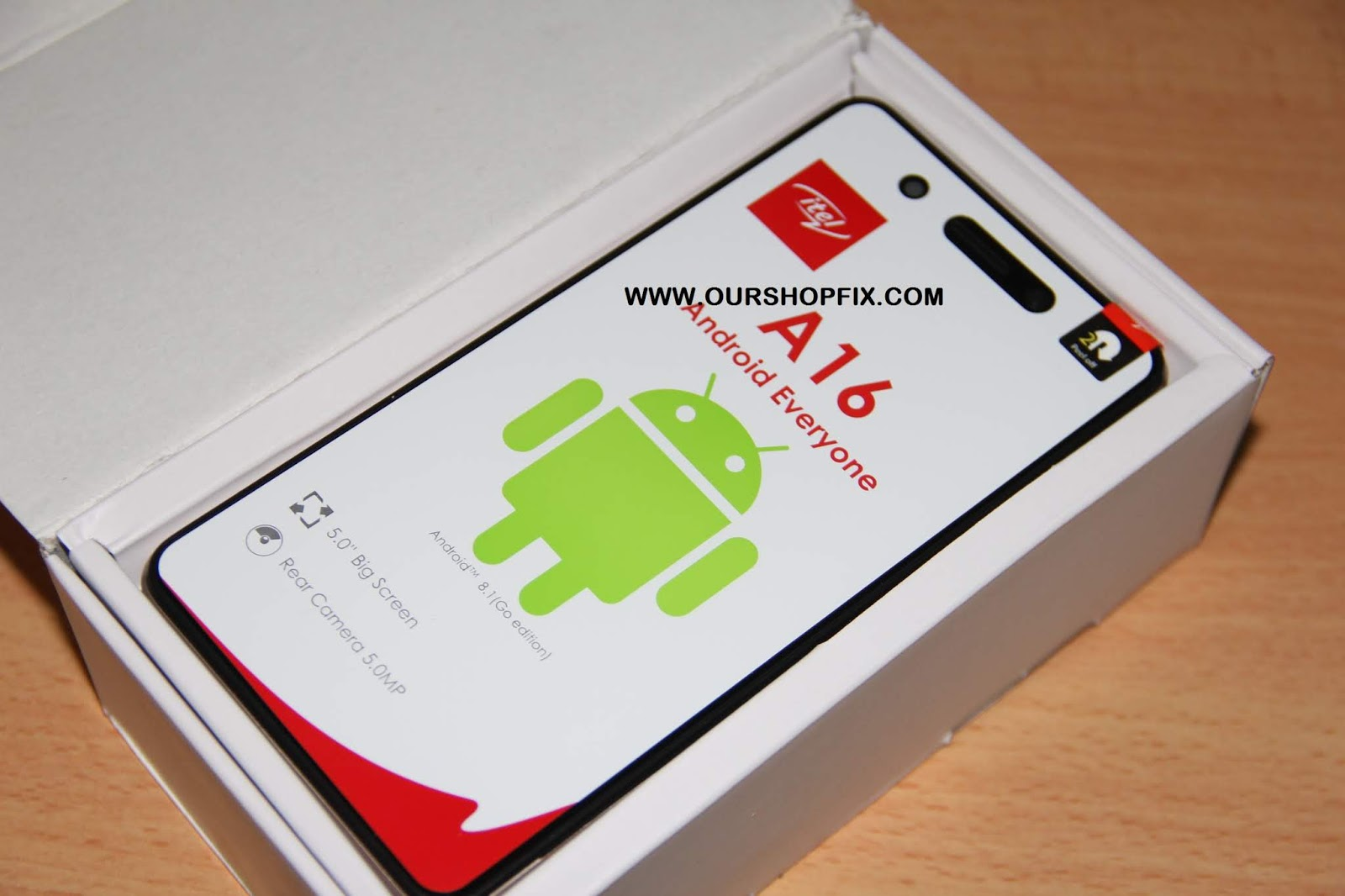 ITEL A16 FRP HANG ON LOGO AND DEAD BRICK SOLUTION