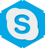 skype hexagon icon