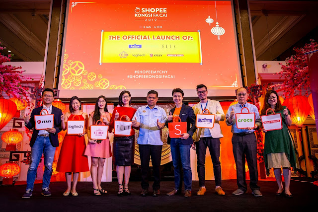 Shopee Kongsi Fa Cai celebration - Until 6 February 2019