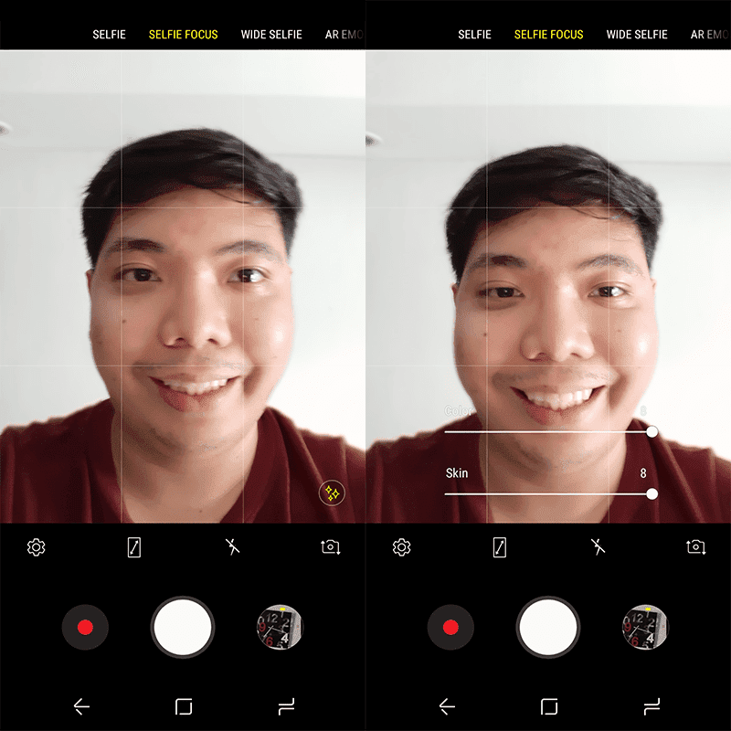 The selfie camera app UI!
