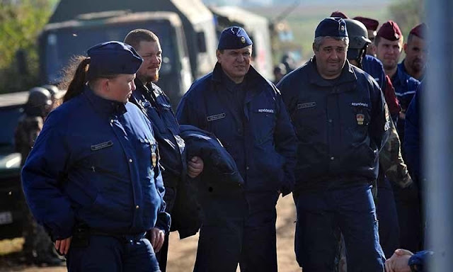 Seventh Hungarian border police contingent leaves for Macedonia