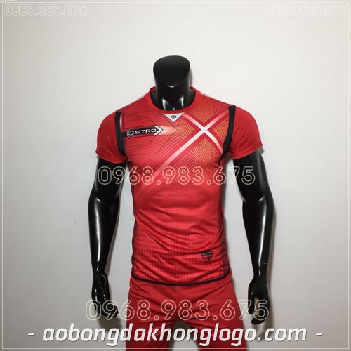 Áo bóng đá không logo Stro HQN Naldo màu đỏ