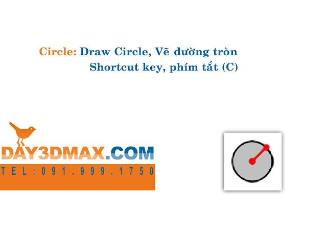 Dạy học 3d sketchup 8 Hướng dẫn sử dụng lệnh circle learning sketchup study 3d how to use circle tool