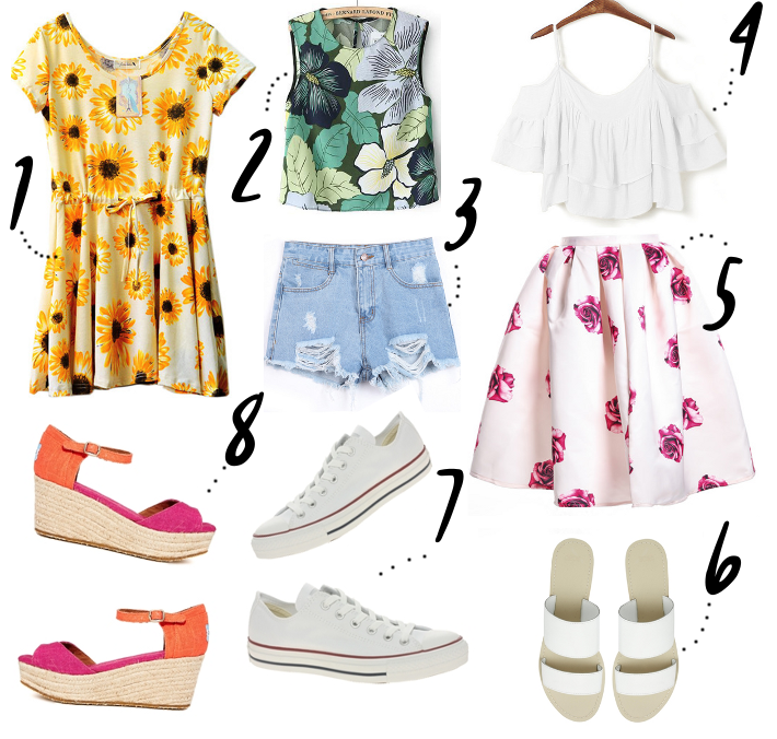 sunflower dress floral midi skirt white converse