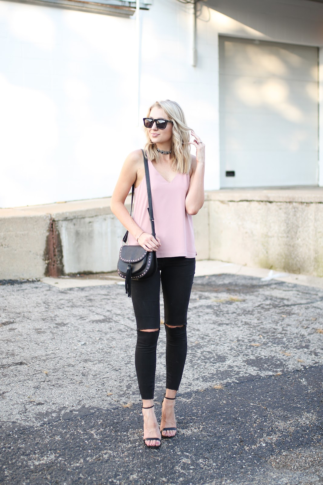 Simple outfit with edgy details