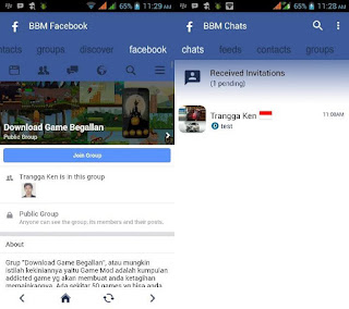 BBM Mod FBUI Style Theme versi 3.1.0.13 Apk Terbaru For Android Clone