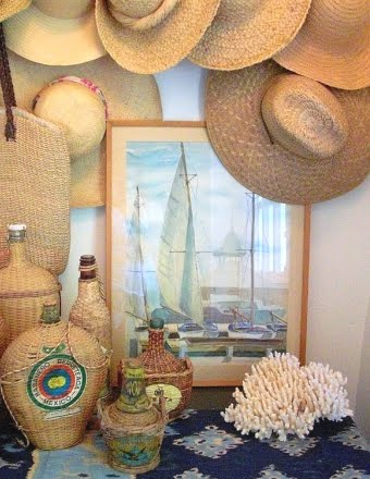straw hats for summer decor
