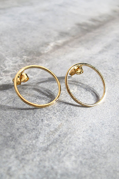 Boucles d'oreilles or Viveka Bergstrom