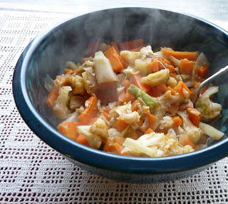 Cauliflower with Leeks & Carrots