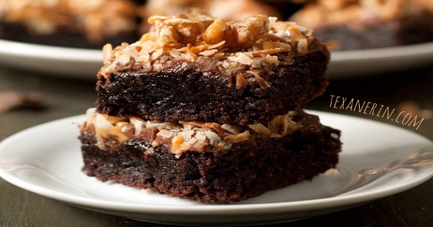 German Chocolate Inspired Brownies  Recipe