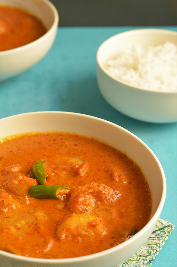 goan prawns in a coconut curry