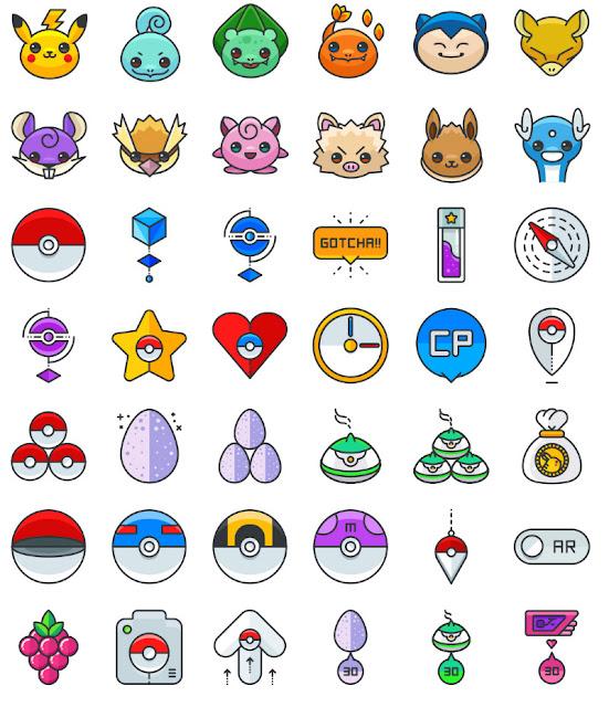 Pokemon Go: 100 бесплатных иконок