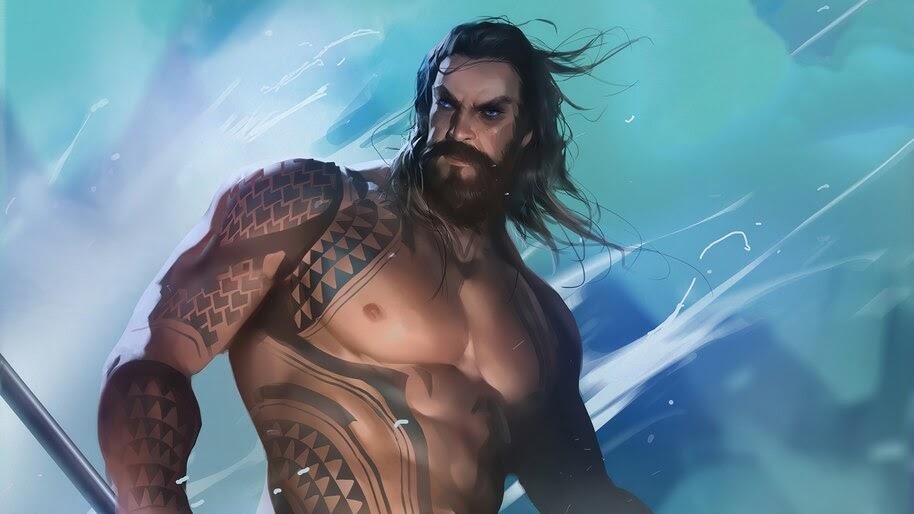 Aquaman, DC, Comics, Art, 4K, #6.2369