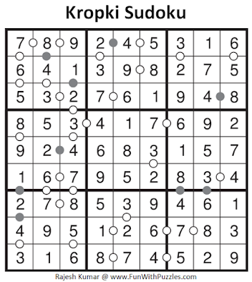 Answer of Kropki Sudoku (Daily Sudoku League #132)