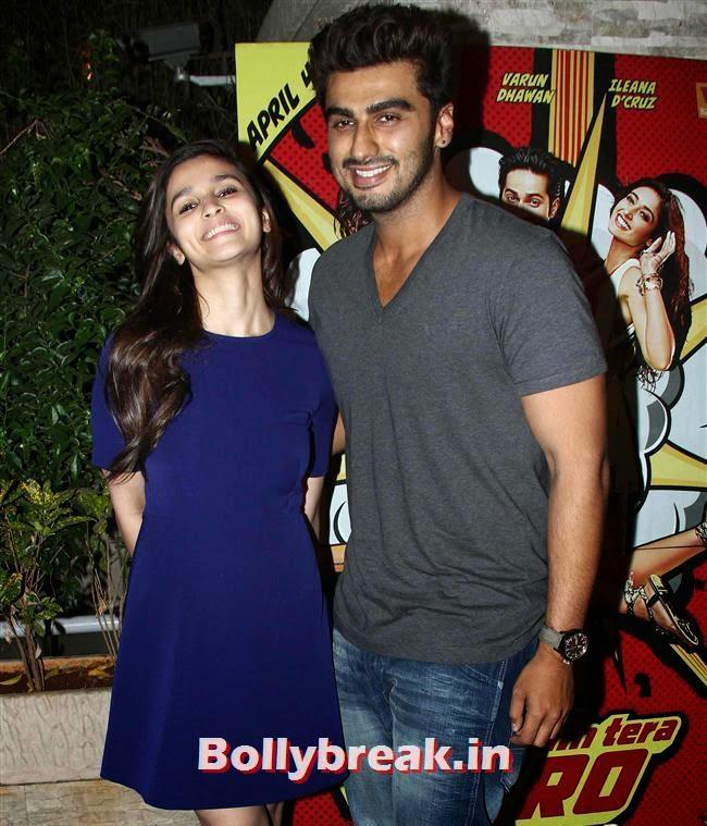 Alia Bhatt and Arjun Kapoor, Hottest at Main Tera Hero Success BASH