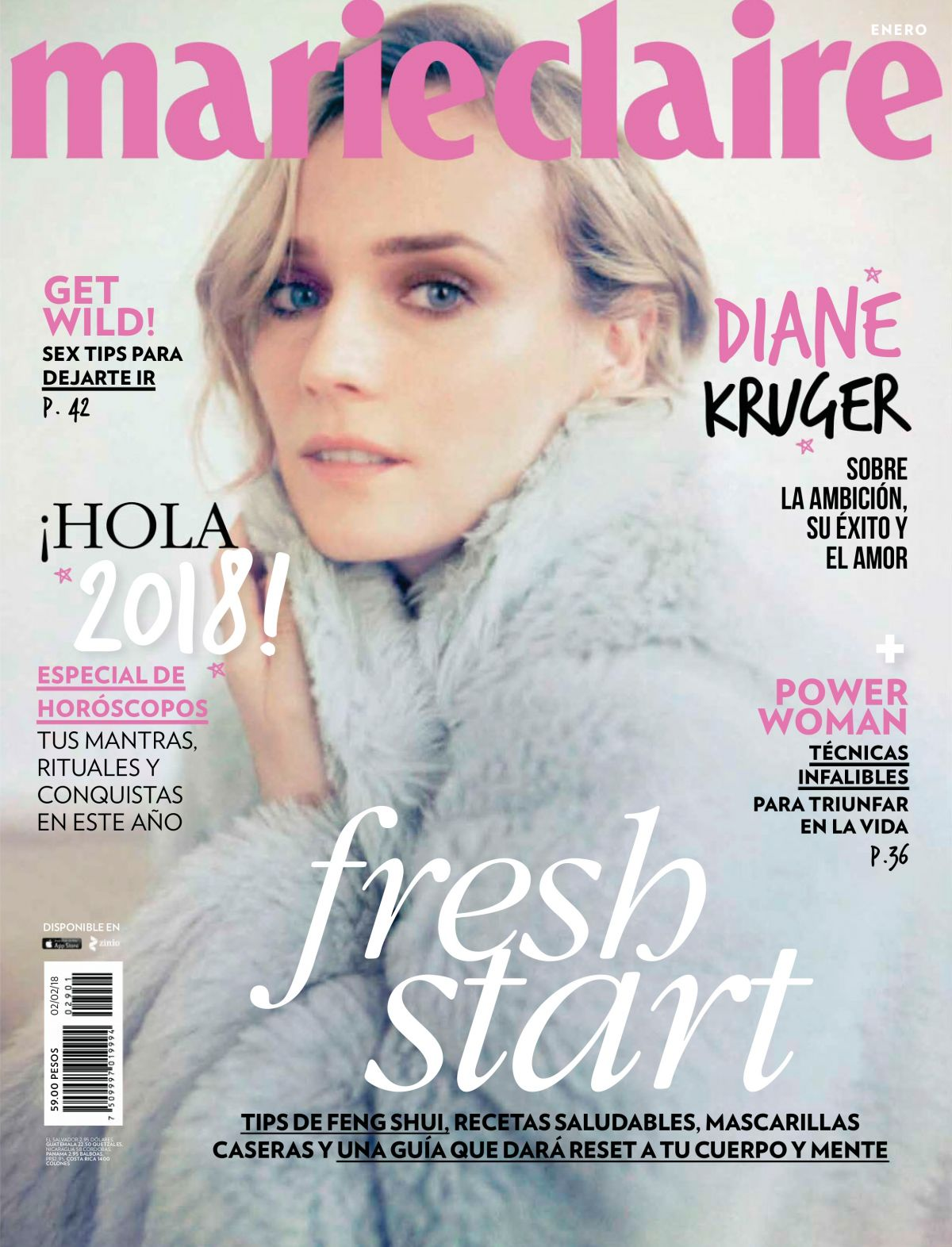 Photo Shoot of Diane Kruger for Marie Claire Magazine Mexico January 2018