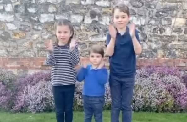 Prince George, Princess Charlotte, and Prince Louis took part in the applause too. Duke and Duchess of Cambridge. Kate Middleton