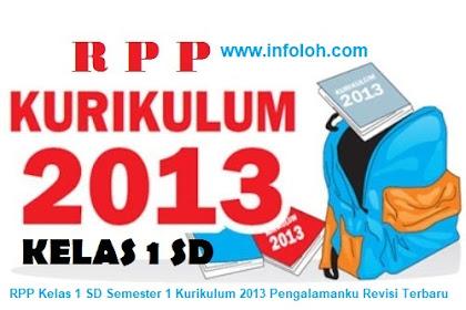 RPP Kelas 1 SD Semester 2 Kurikulum 2013 Pengalamanku Revisi Terbaru