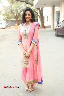 Actress Vimala Raman Stills in Beautiful Pink Salwar Kameez at (ONV) Om Namo Venkatesaya Press Meet  0252.JPG