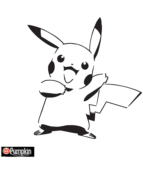 Download pokemon outline template for carving pumpkin