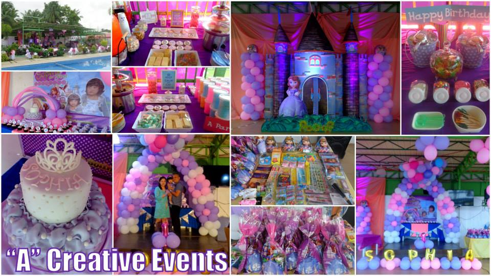 Sofia the first theme birthday party davao city