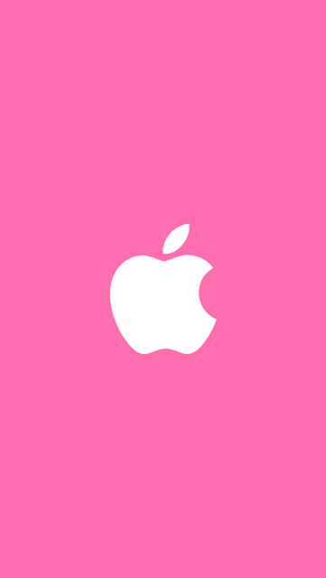 Apple iphone logo with pink background iPhone 5 wallpaper-coolwallpaperforiphone_com