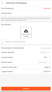 upload bukti transfer