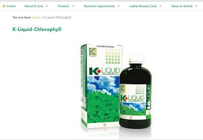 Produk K-Linnk K-Liquid Clorophyll
