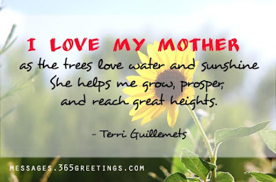 Love Quotes For Mother From Daughter: i love my mother