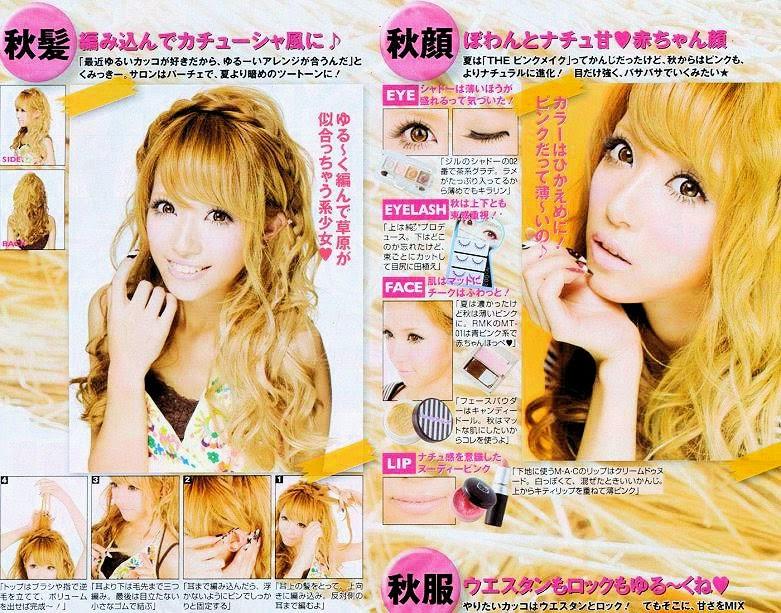 easy gyaru hair tutorial, eye makeup