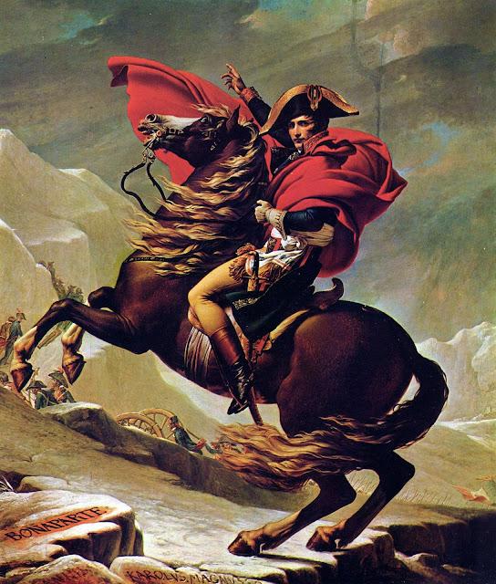 Napoleon beim Ritt über die Alpen