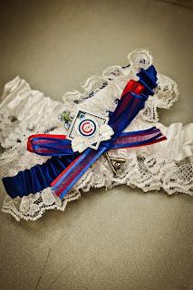 baseball team wedding garter