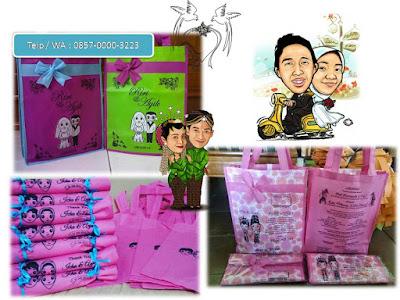 Goodie Bag  Tas Spunbond Souvenir Pernikahan