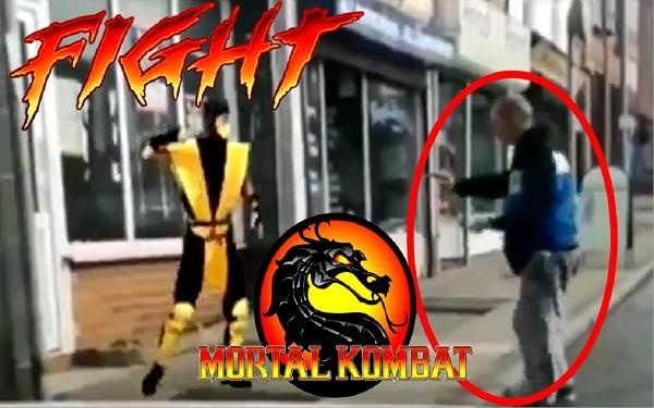 Mortal Kombat da Vida Real - Scorpion vs Bêbado (Imagem: Reprodução/Canal Tô de Zóio)