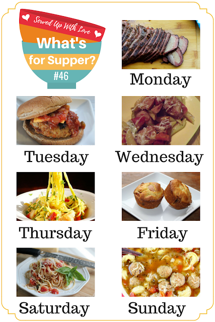 Crock Pot Meatball and Tortellini Soup, Smoked Brisket, Corn Dog Muffins, Apple Butter Bundt Cake and more at What's for Supper Sunday meal plan over at Served Up With Love.