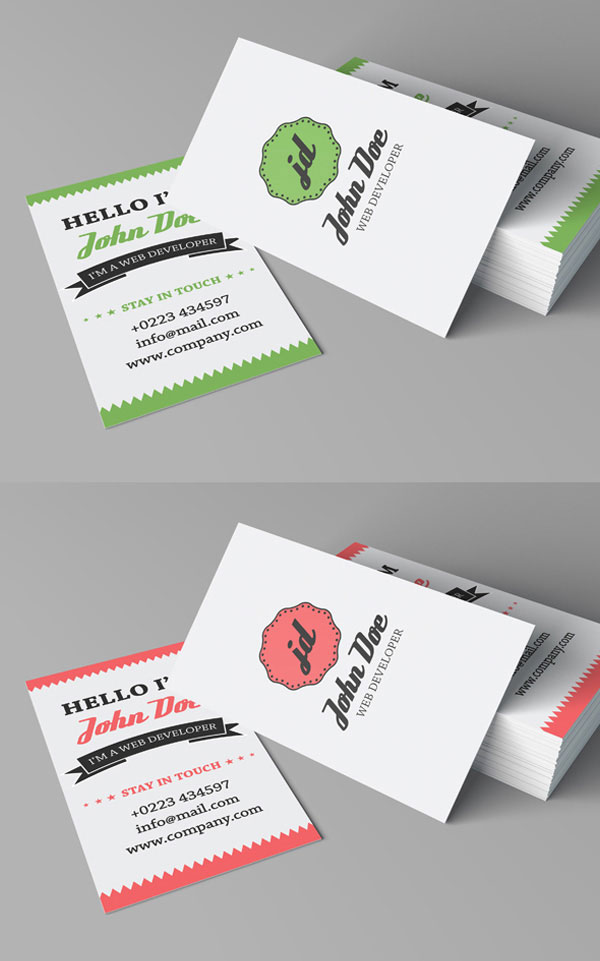 Free Retro Personal Business Card