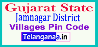 Jamnagar District Pin Codes in Gujarat State