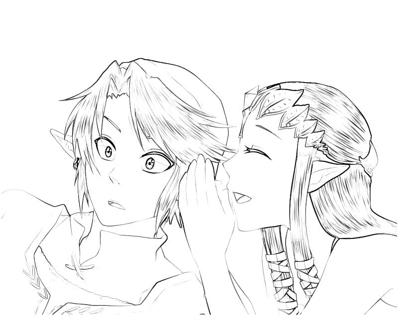 zelda twilight princess coloring pages - photo#18