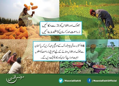 On World Food Day today let us resolve to end hunger from Pakistan-بھوک اور افلاس کو جڑ سے مکائیں