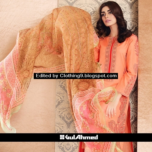 Gul Ahmed Cambric Dress Collection Mid Summer 2015-2016