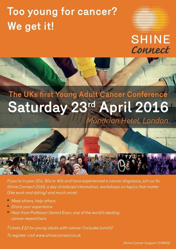 Shine Connect - Young Adult Cancer Conference, London, 23rd April 2016