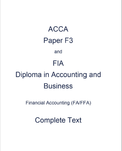 ACCA F3 Kaplan Study text 2017 | FREE ACCOUNTING B00KS