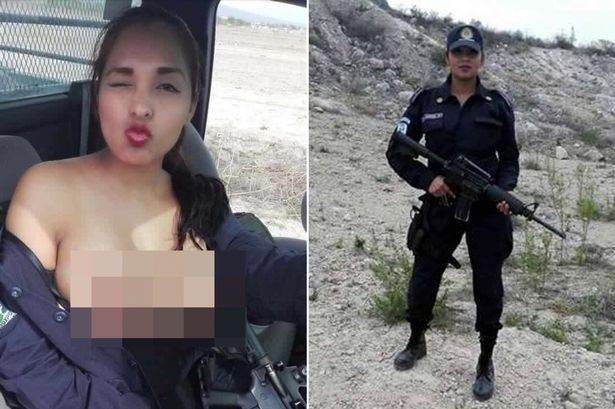 Female Mexican Police Officer Selfie