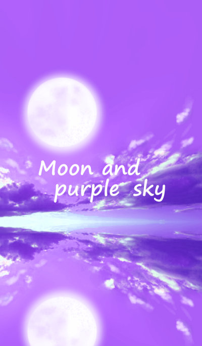 Moon and purple sky