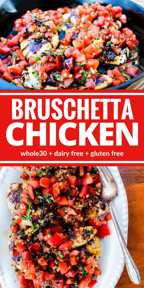 HEALTHY BRUSCHETTA CHICKEN #healthyrecipes #healthyfood #bruschetta #chicken #chickenrecipes