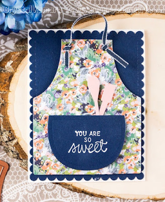 ODBD Custom Apron and Tools Dies, ODBD Baking Tag Sentiments, ODBD Customer Card of the Day designed by Crystal Komara