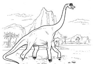 Cute Brachiosaurus Coloring Sheet Print